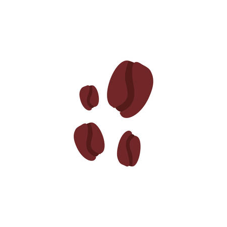 coffee beans on white background vector illustration design Imagens - 133580165