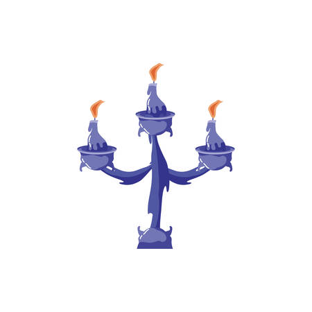 chandelier of candles on a white background vector illustration design
