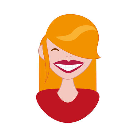 woman with perfect teeth vector illustration design 向量圖像