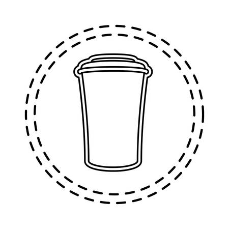 patch of container beverage drink isolated icon vector illustration design