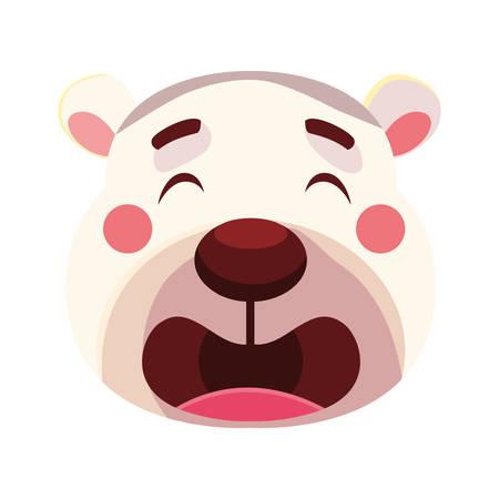 head of cute polar bear vector illustration design
