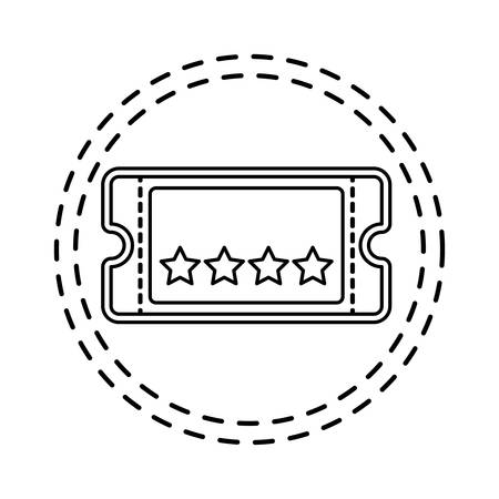 patch of ticket cinema movie isolated icon vector illustration design