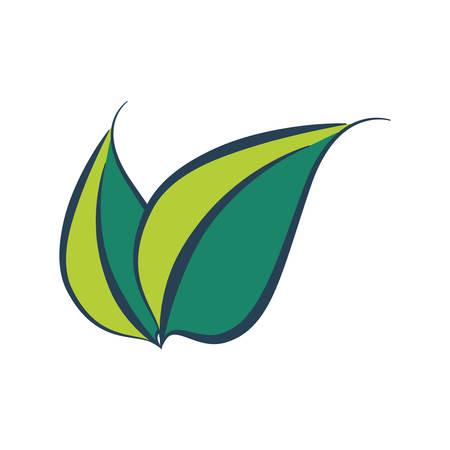 ecology leafs plant icon vector illustration design Çizim
