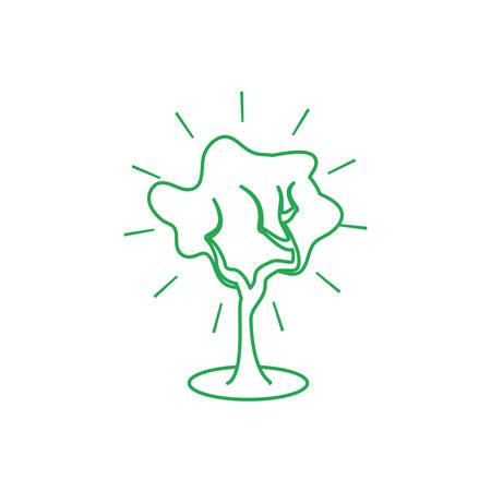 tree plant nature isolated icon vector illustration design Çizim