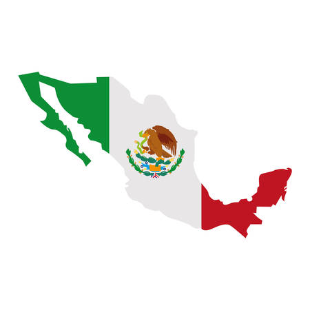 Mexican map design, Mexico culture tourism latin and party theme Vector illustration