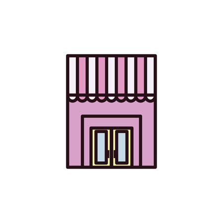 facade of the Bakery shop in white background vector illustration design
