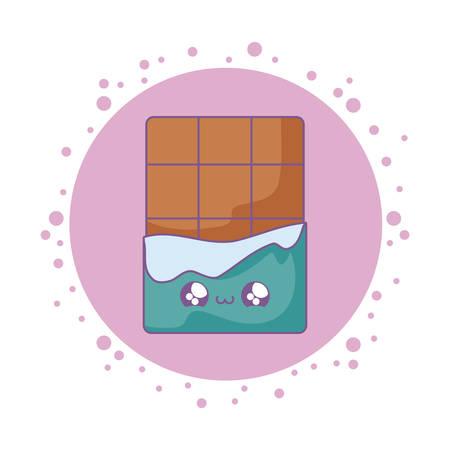 delicious chocolate bar   style vector illustration design