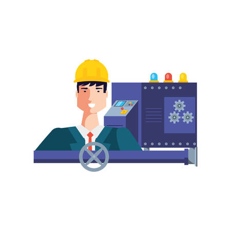 Worker design, Working occupation person job corporate employee and service theme Vector illustration Фото со стока - 133849012