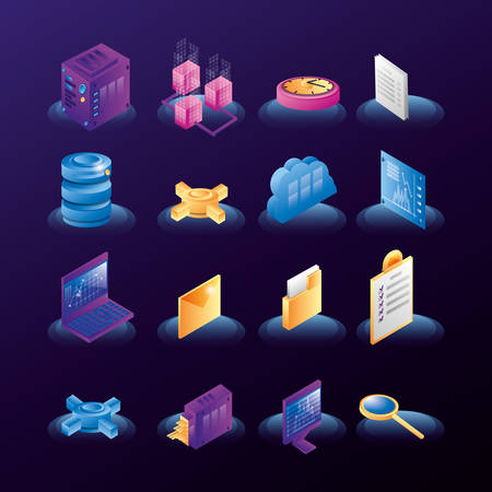 data center network icons center icons vector illustration design Фото со стока - 133849238