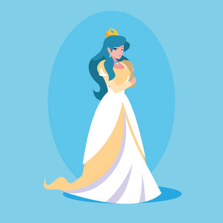 princess fairytale fantasy avatar character vector illustration design