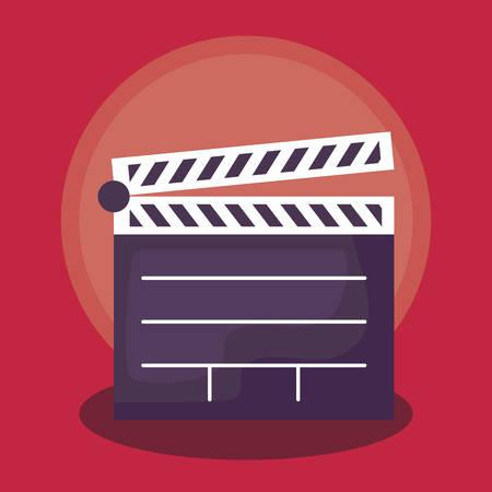 cinema clapboard equipment director icon vector illustration design Illustration