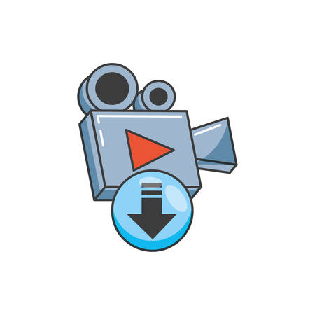 video camera film device icon vector illustration design Reklamní fotografie - 133850097