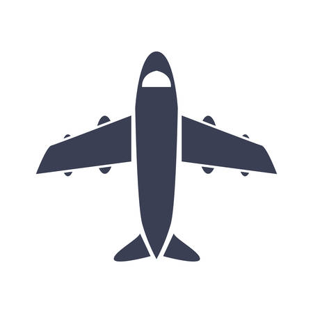 airplane transport icon on white background vector illustration
