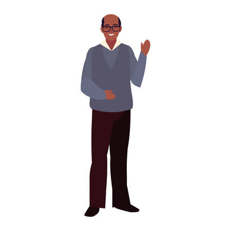 adult man standing character design vector illustration