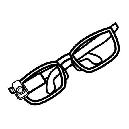 optical eyeglasses with camera vector illustration design