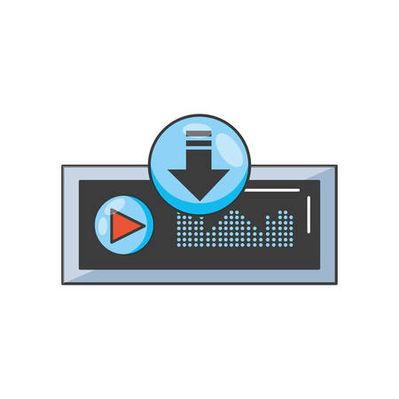 audio player display with sound graohic vector illustration design Ilustrace