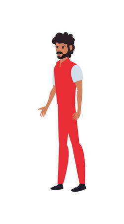 delivery man character worker in uniform vector illustration
