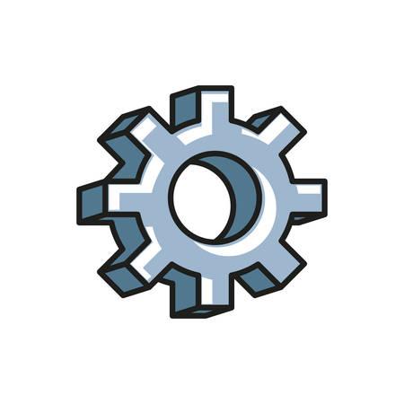 gear pinion machine isolated icon vector illustration design Vektorové ilustrace