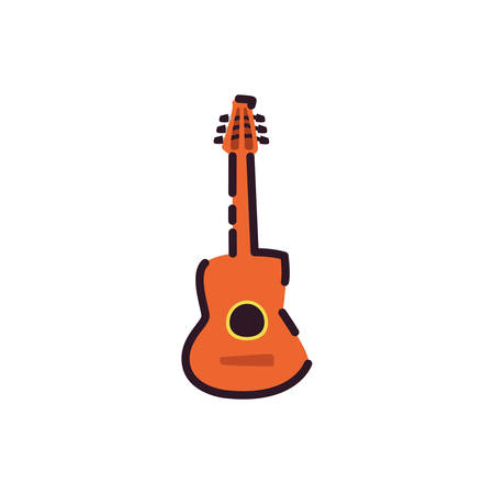 Music guitar instrument design, Sound melody musical art and composition theme Vector illustration