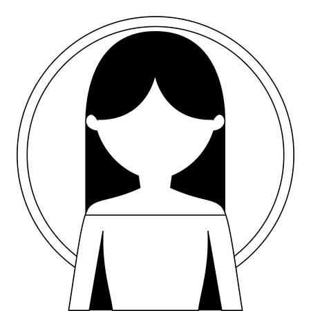 young woman beauty avatar character vector illustration design Ilustração Vetorial