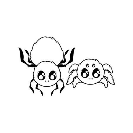 creepy spider animal on white background vector illustration design Ilustrace