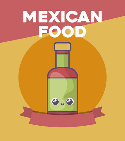 card with Mexican food label vector illustration design Stock Illustratie