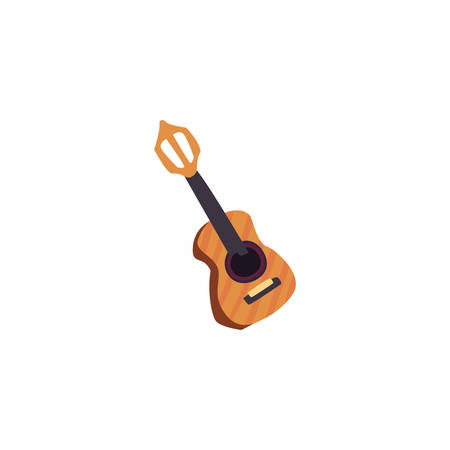 musical instrument guitar on white background vector illustration design Stok Fotoğraf - 133850979