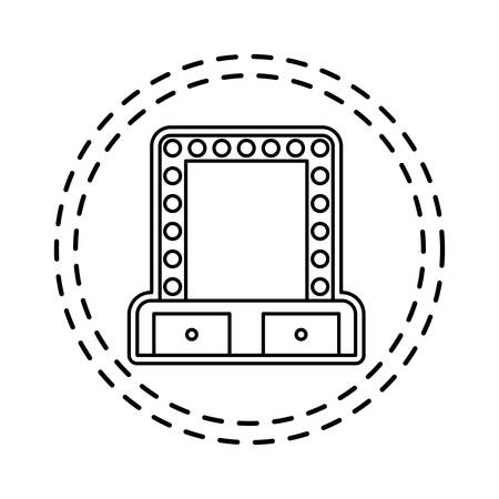 patch of cinema label with lights isolated icon vector illustration design