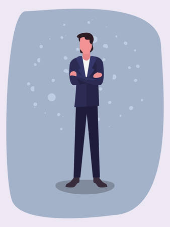 man character male gesture design vector illustration