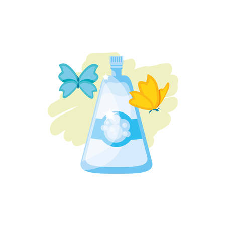 Cleaning detergent design, Object home work hygiene equipment domestic and housework theme Vector illustration