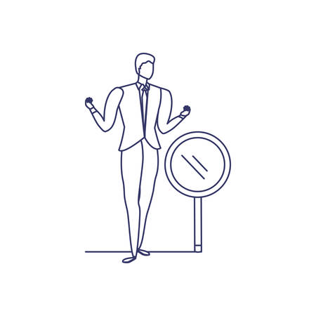 silhouette of man in white background vector illustration design