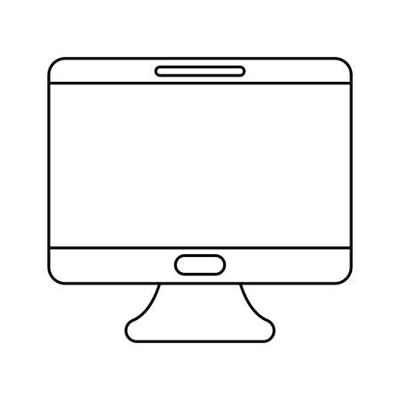 desktop computer technology isolated icon vector illustration design Stock Vector - 133853403