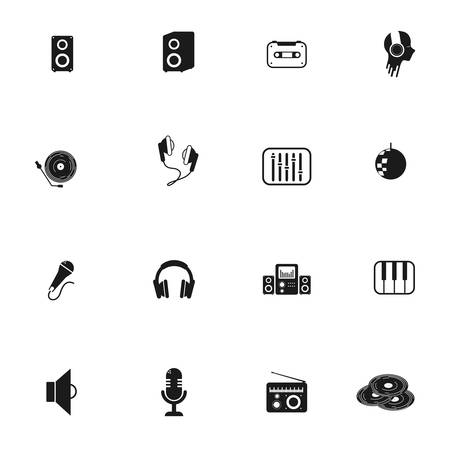 set of objects for music vector illustration design