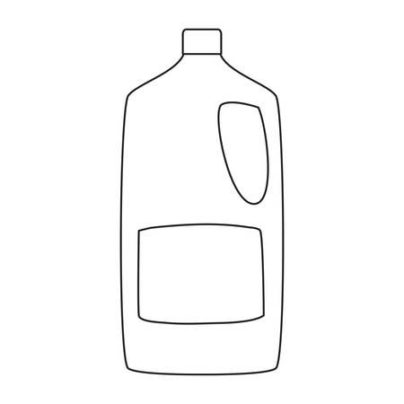 detergent bottle cleaning supply on white background vector illustration outline