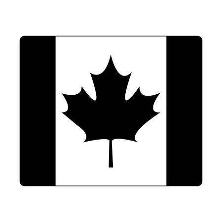 flag of canada patriotic icon vector illustration design