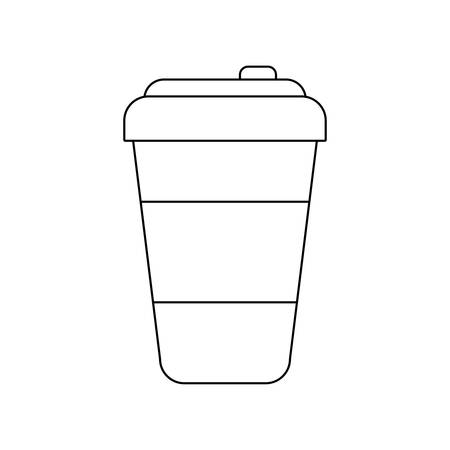 container beverage disposable isolated icon vector illustration design Illustration