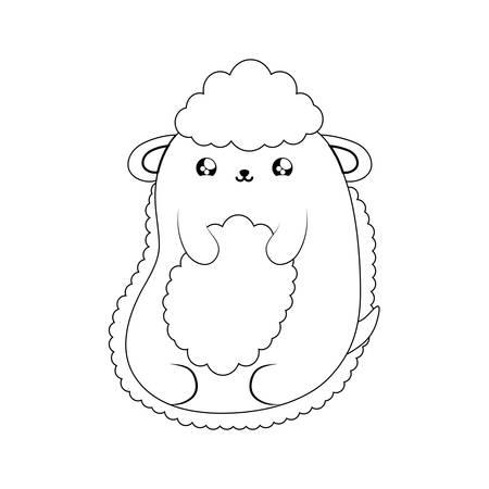cute sheep baby animal   style vector illustration design Ilustracja
