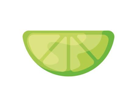 slice of lemon in white background vector illustration design Çizim