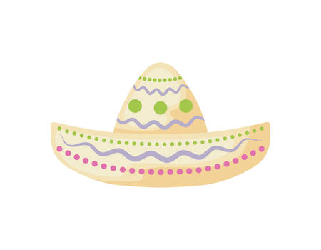 mexican hat in white background vector illustration design