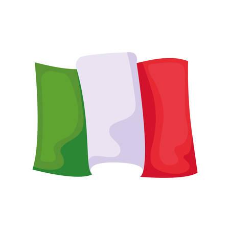 italy flag in white background vector illustration design Stock Illustratie