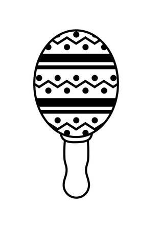 cute maracas in white background vector illustration design Stock Illustratie