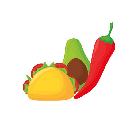 traditional mexican food and vegetables vector illustration design Stock Illustratie