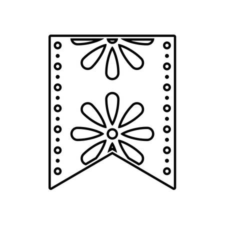 mexican decorative on white background vector illustration design