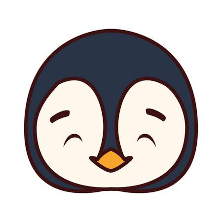head of penguin in white background vector illustration design