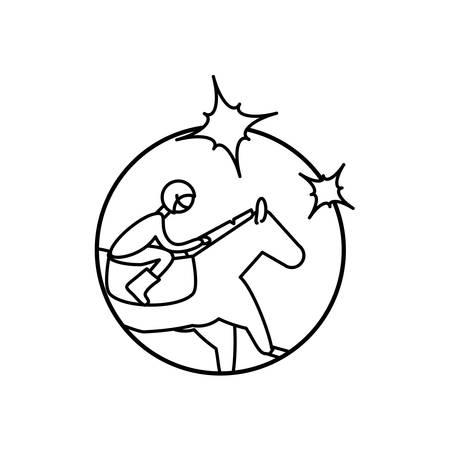 horse with jockey racecourse icon vector illustration design Foto de archivo - 133651937