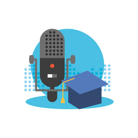 microphone audio device technology icon vector illustration design