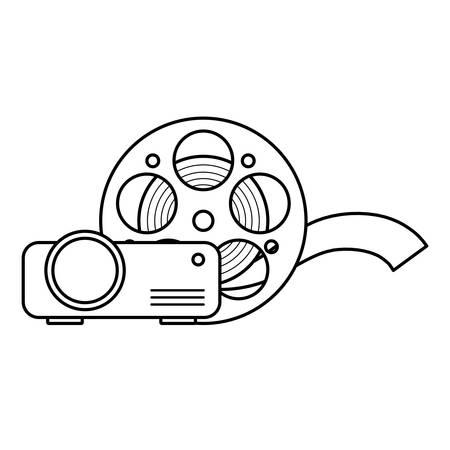 cinema reel tape with video beam vector illustration design Фото со стока - 133652208