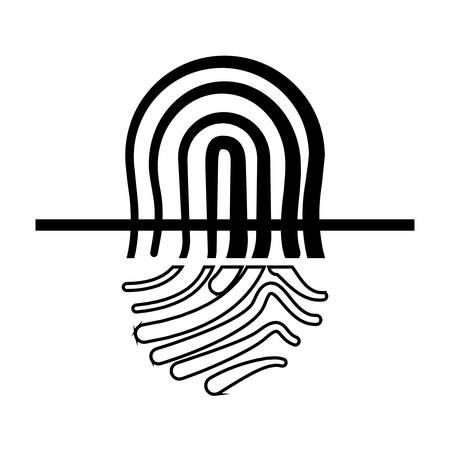 finger print security icon vector illustration design Reklamní fotografie - 133906146