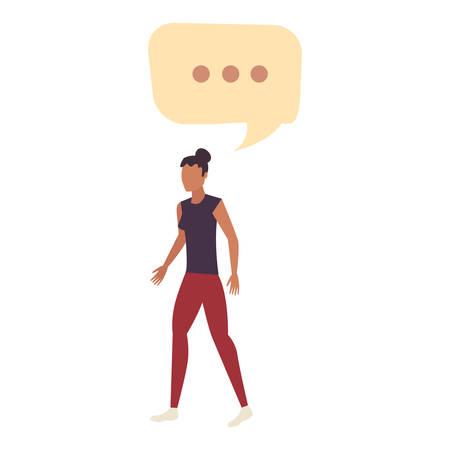 woman female character talk bubble vector illustration Illusztráció