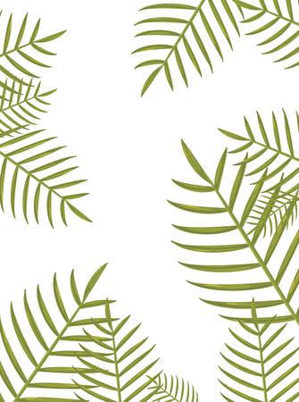 summer time holiday frame border tropical leaves vector illustration